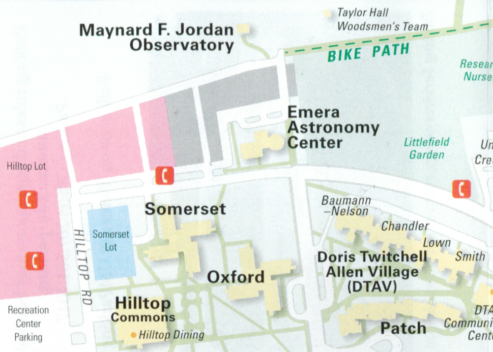 Emera Astronomy Center on Campus Map