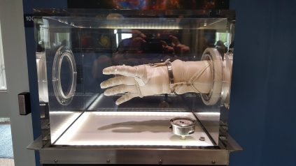 Flagsuit glove exhibit