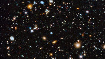 16x9 crop of Hubble Ultra Deep Field image
